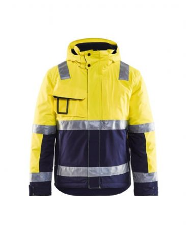 Blaklader 4870 Winter Jacket High Vis (Yellow/Navy Blue)